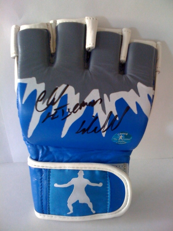 Official Autographed ICEMAN Glove