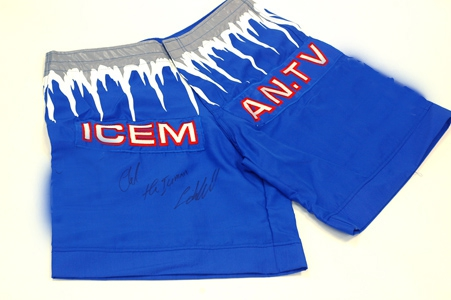 Signed Iceman Fight Shorts